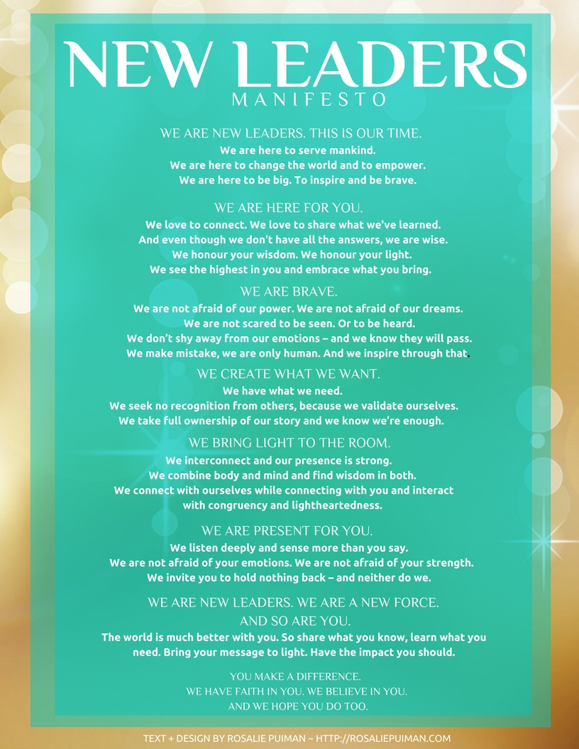 New Leaders Manifesto (downloadable)